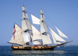 brigantine type sailing vessel