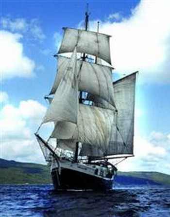 """Brigantine"" type sailing vessel"