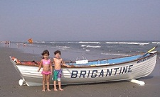 Children on the beach at Brigantine Beach NJ