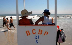 Brigantine Beach, NJ lifeguard stand