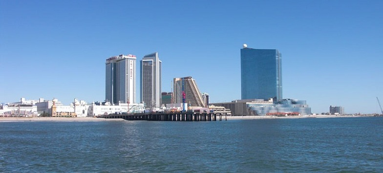 Atlantic City, NJ view from th ocean