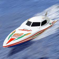 Cigarette speed boat on the water